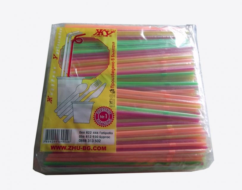 Wrapped straws, neon х 1000