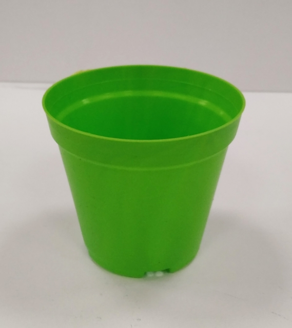 Саксия ф9 см - твърда /зелен/