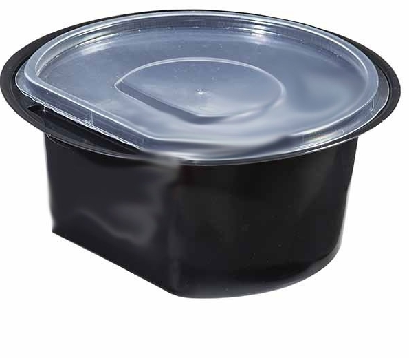 Food container 0.500ml black
