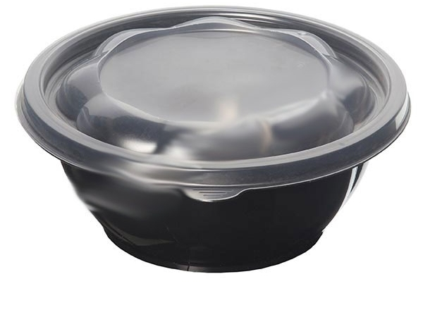 Food container 0.750ml black salad