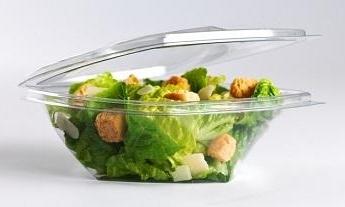 Food container 750ml transperant salad х 50