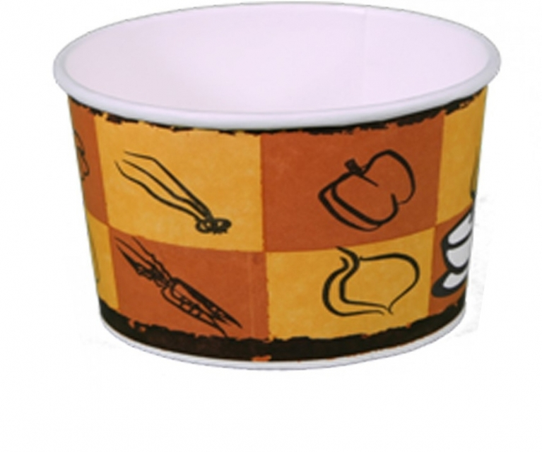 Paper soup bows whit lids 500 ml - 25pcs