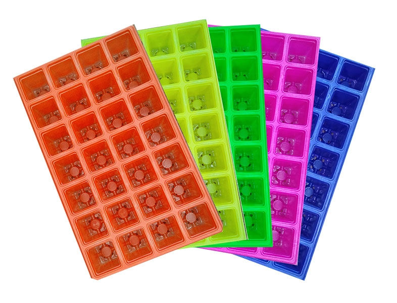 28 cells seedling tray - mixed colors