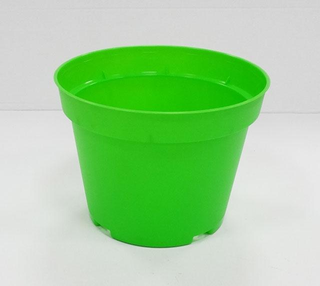 Саксия Ф13 см - твърда / зелен /