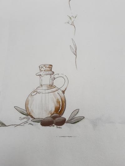 Хартиена покривка - 130 х 100 - маслинов десен
