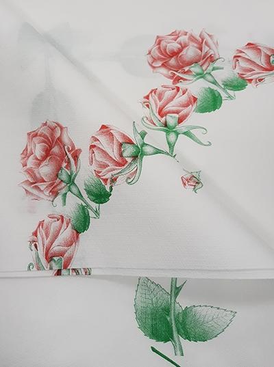 Хартиена покривка - 100 х 100 - флорален десен