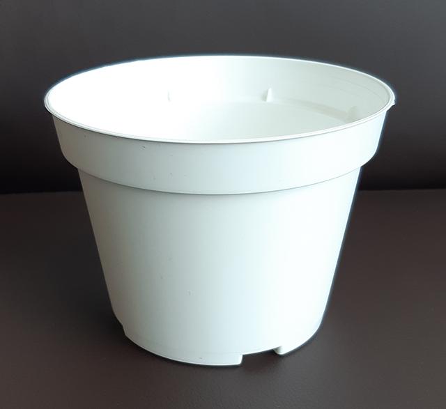 13 сm flower pot - white