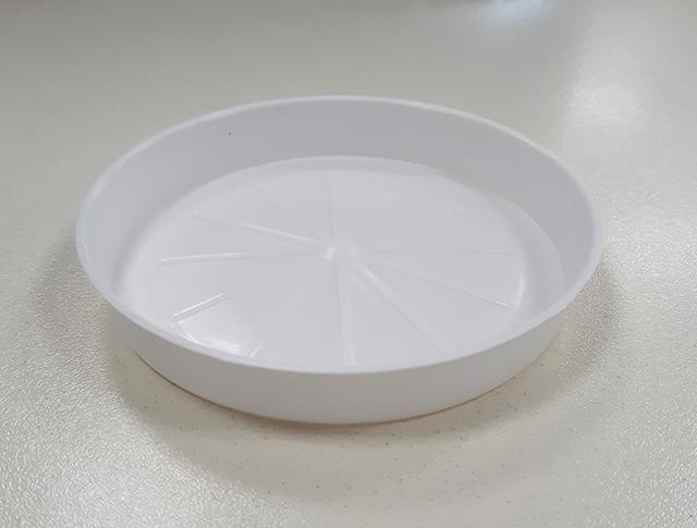 Подложна чинийка за саксия ф13 /бял/