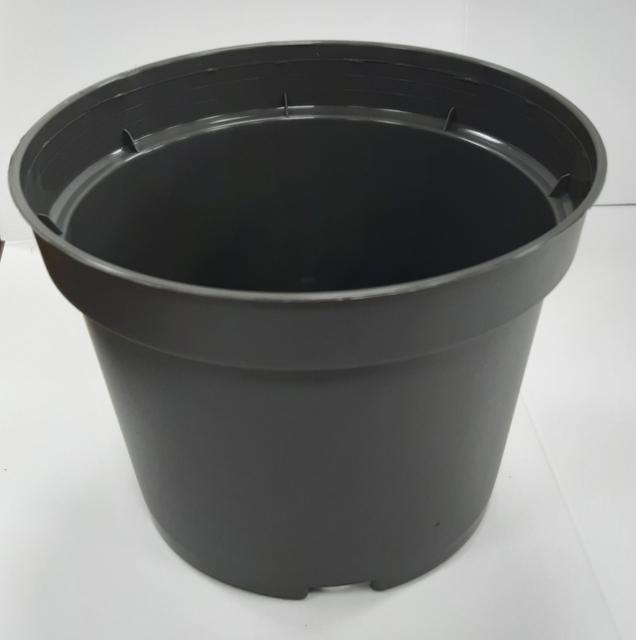 13 сm flower pot - / graphite /