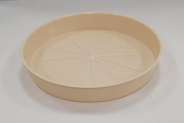 Подложна чинийка за саксия ф13/бежов/