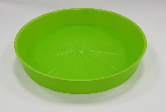 Подложна чинийка за саксия ф13/св.зелен/