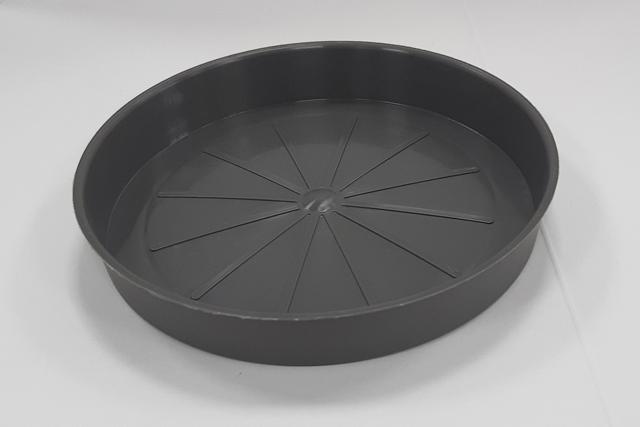 Подложна чинийка за саксия ф13/графит/