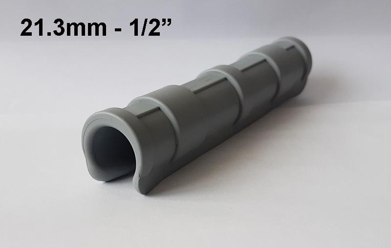 """Plastic profile 1/2"""" / 21.3 mm/"""
