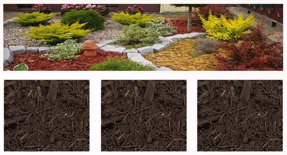 Colored mulch - brown