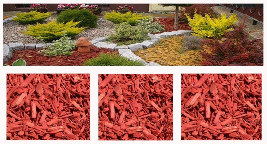 Colored mulch - red