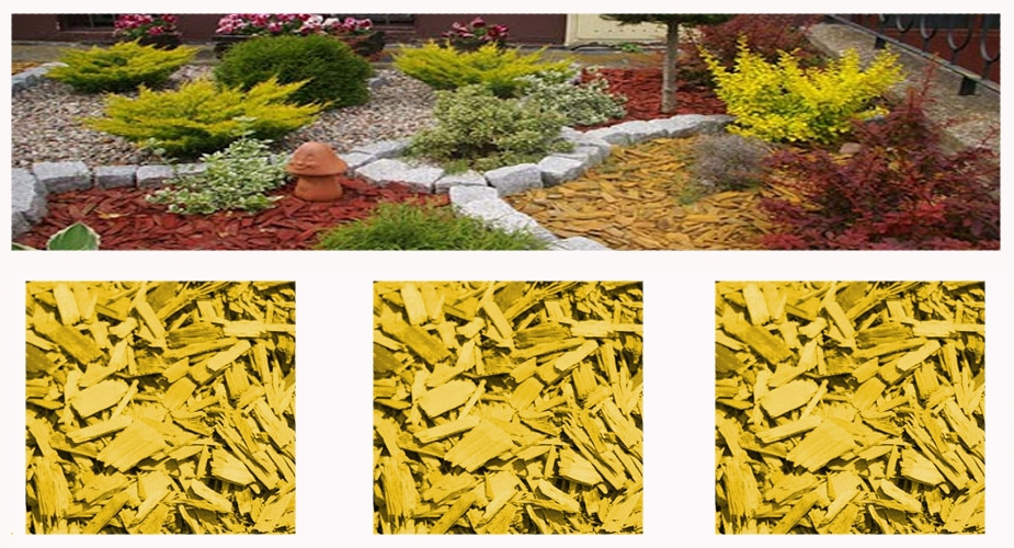 Colored mulch - yellow